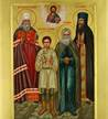 icon of ss. juvenaly and peter the aleut