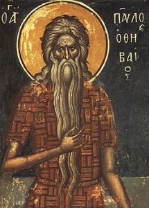 icon of st. paul the first hermit
