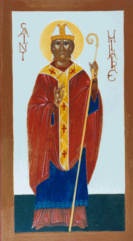 icon of st. hilary of poitiers