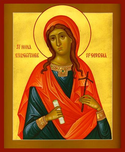 icon of st. nina of georgia